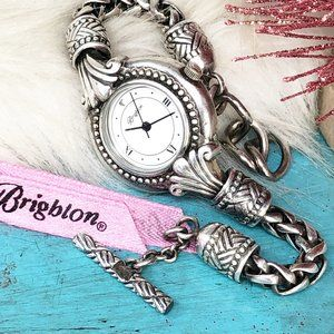 Brighton Calgary Silver Wheat Chain Bracelet Watch